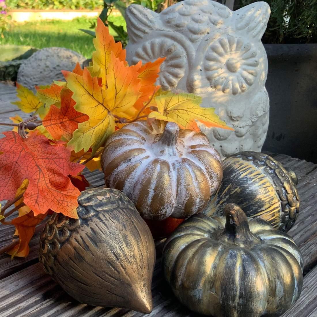 Tutorial Herbstdeko Kürbis gestalten, Material aus dem Action Haul, DIY Inspiration, DIY Idee
