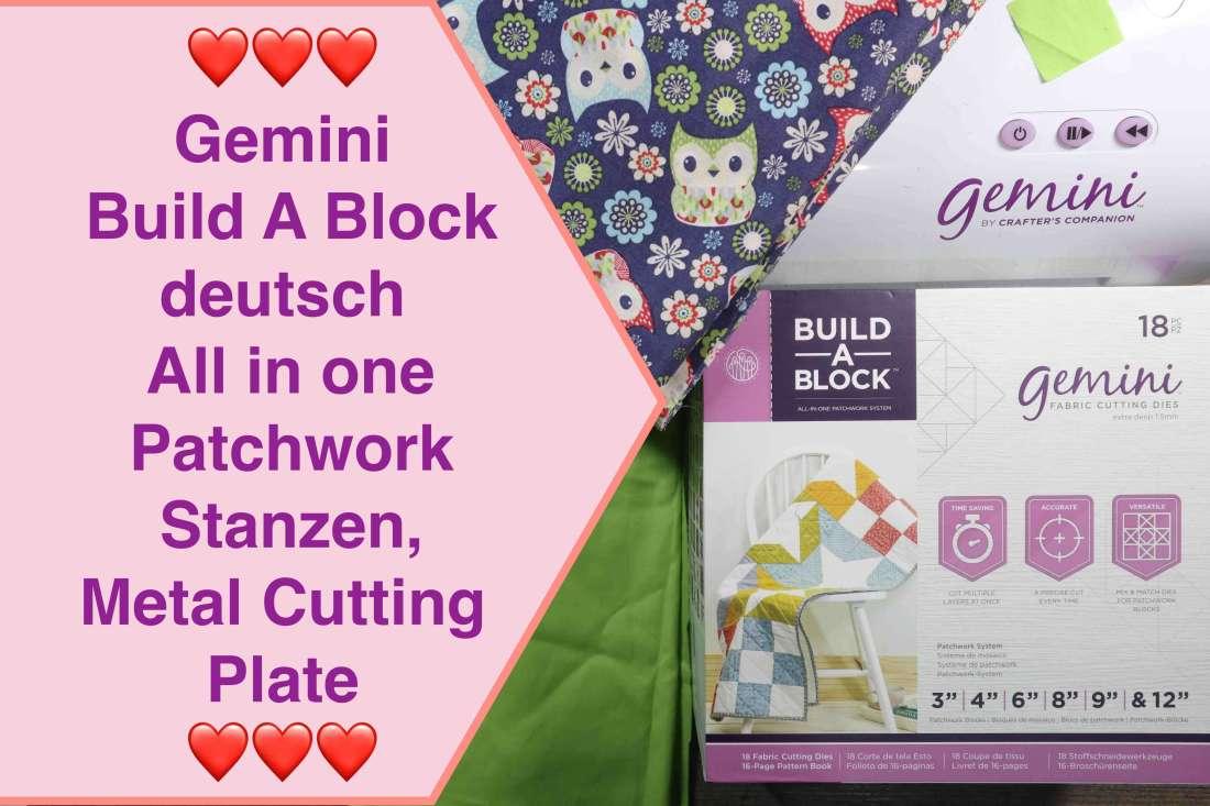 Gemini Build A Block deutsch, All in one Patchwork Stanzen, Metal Cutting Plate, Crafter's Companion