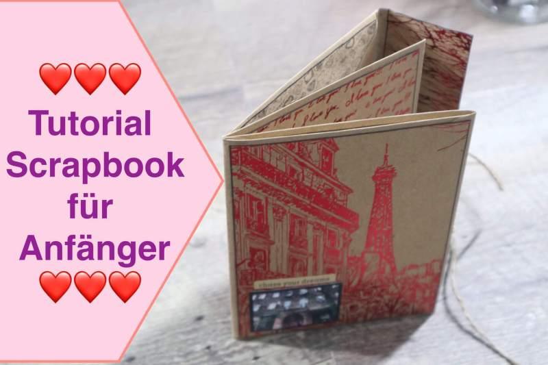 Tutorial Scrapbook für Anfänger, Paris Scrapbook leicht