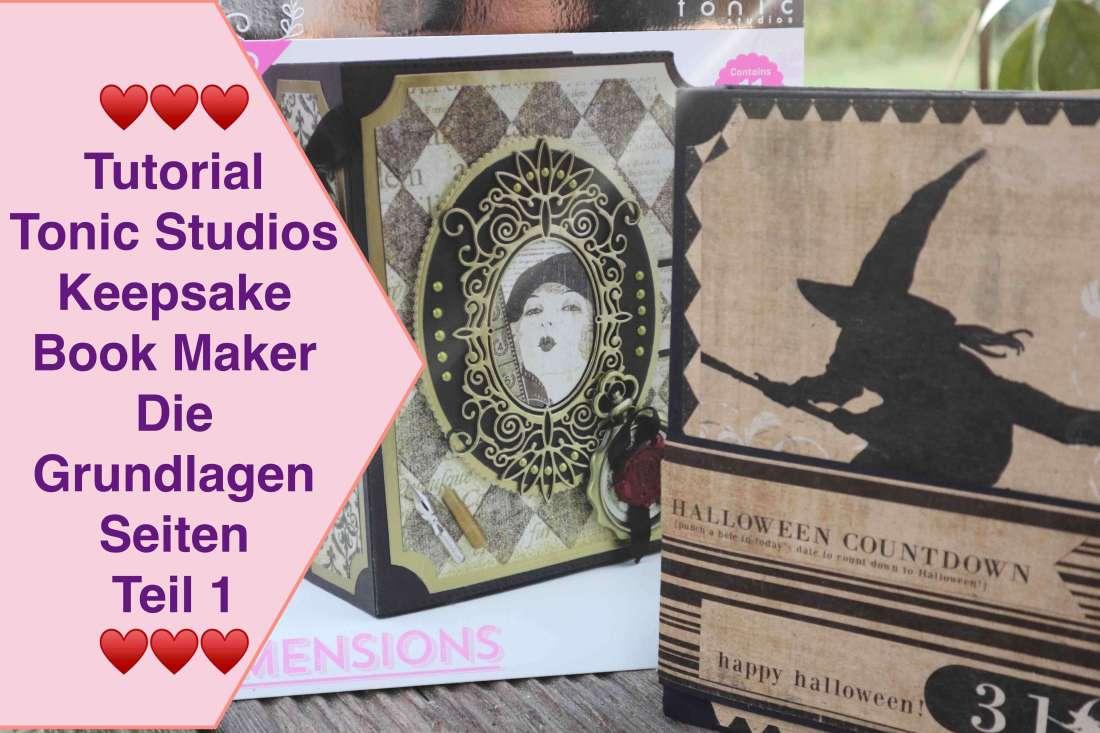 Tonic Studios Keepsake Book Maker Die Stanzschablonen Set Mini Album Scrapbook Grundseiten aufbau