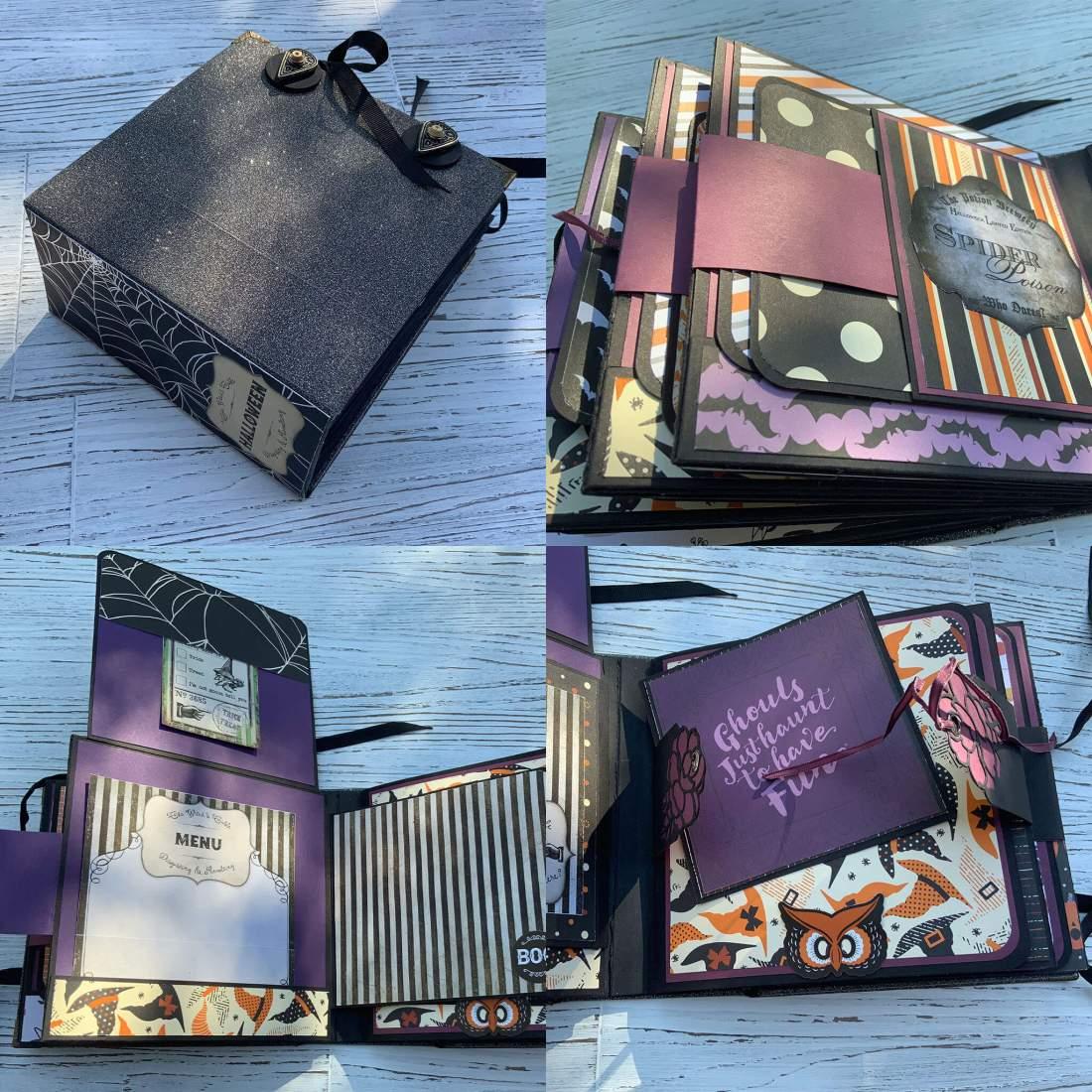 Hardcover Halloween Mini-Album Echo Park Bewitched, Stampin up Minialbum Scrapbook