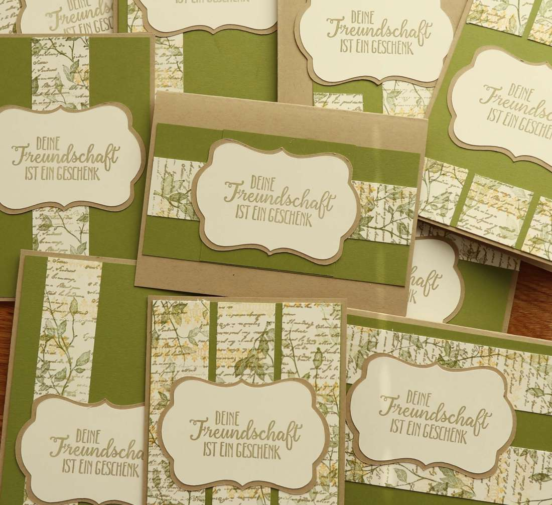 Tutorial: One Sheet Wonder, 10 Karten, Designerpapier Selbermachen, Schablone FREE, Stampin up