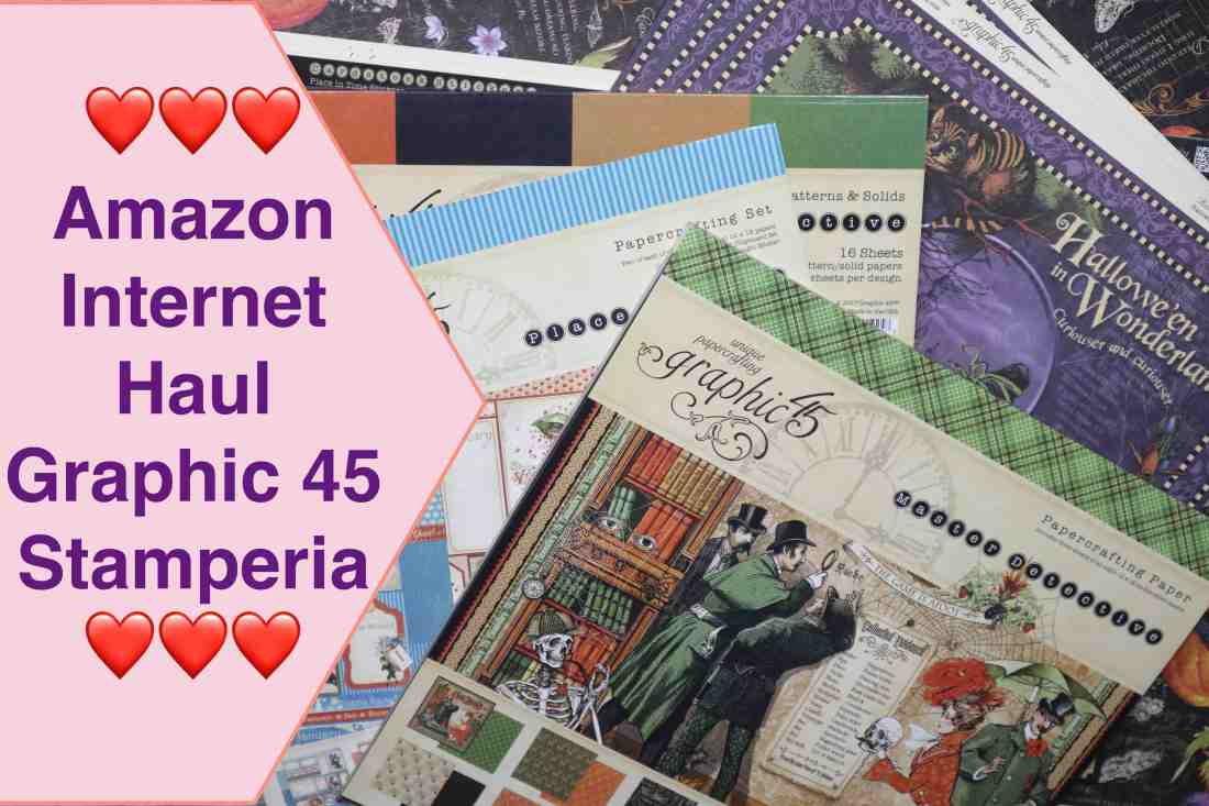 Amazon Haul Internet Haul Graphic 45 Stamperia Woodlands Scrapbook Paper Pad basteln mit Papier.