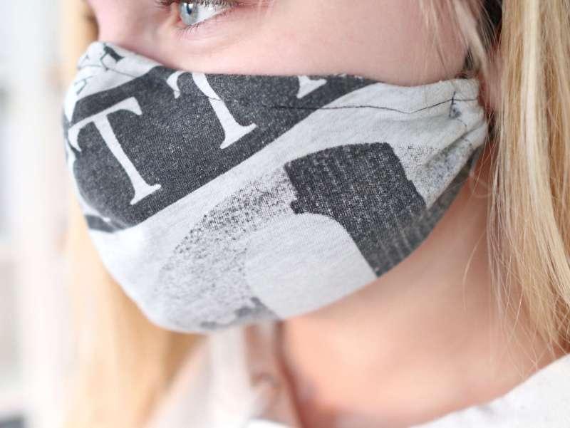 Tutorial: Behelfs- Mundschutz aus einem Shirt einfach selber nähen, Schablone FREE #MaskeZeigen