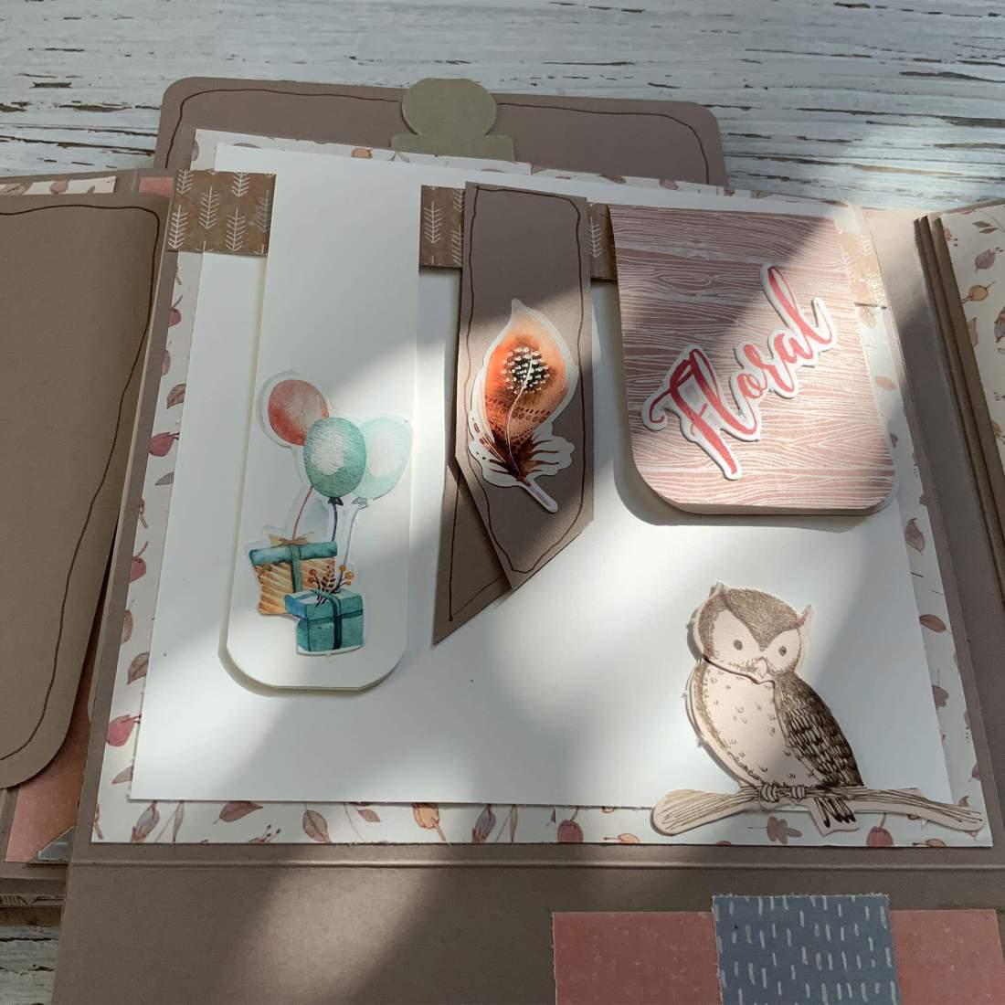 Mini-Album Paper-Craft, Set Action Minialbum Scrapbook