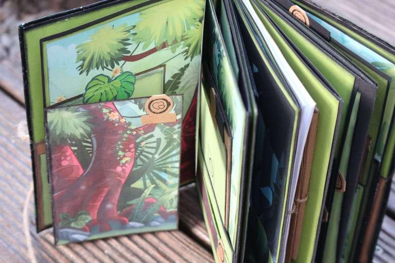 Craft Update Mini Album Action Stickerbook Paper-Craft Sticker Buch Minialbum Scrapbook