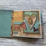 Tutorial Scrapbook Album, Inspiration Memory Book, Mini Album, Stamperia Paperuna4