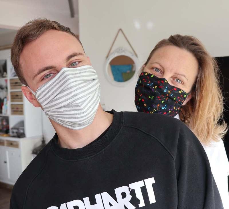 Tutorial: Behelfs-Maske, Mund-Nasen-Maske m. Filtertasche u. Draht , einfache Anleitung #MaskeZeigen