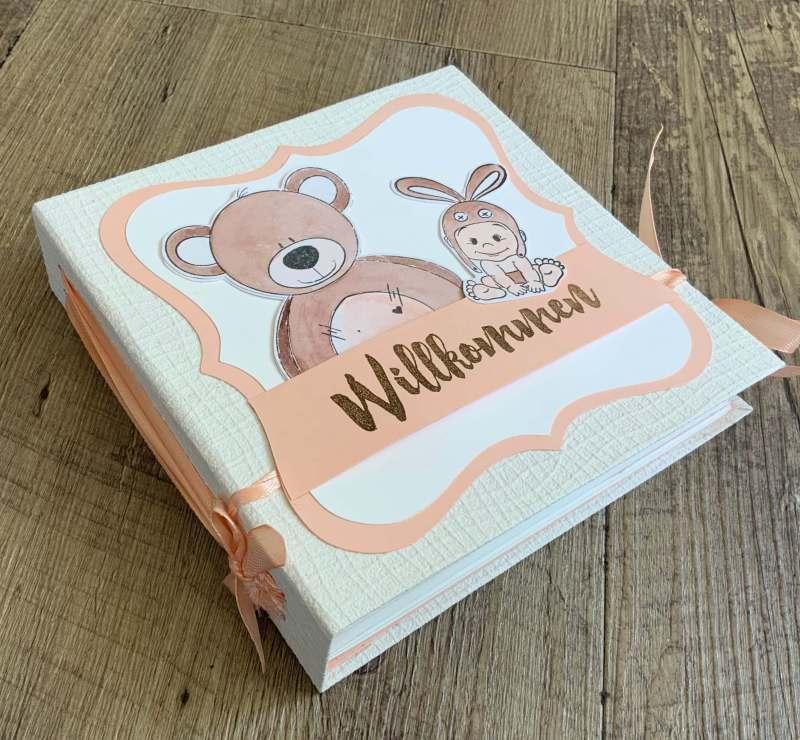 Craft Update Scrapbook Baby Album,Memory Book, Action Stempel Karin Brushmarker ,Scrapbooking leicht