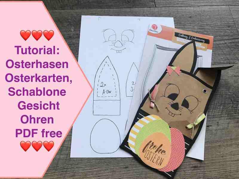 Tutorial Osterhasen Osterkarten basteln mit Papier, NEUE Action Stanzen, Schablone Ohren PDF free