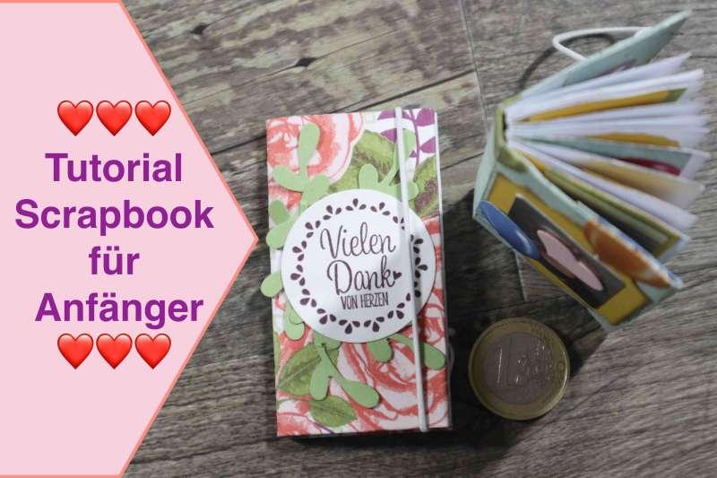 Scrapbook für Anfänger, Tutorial Scrapbook Album für Beginner, Mini Scrapbook Notizbuch leicht #5
