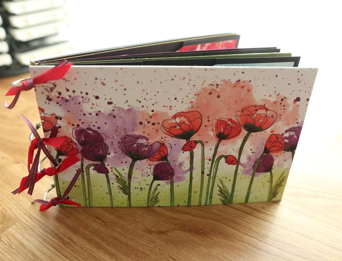 Tutorial: Scrapbook lang mit Ringbindung, Mini Album Anleitung leicht, Stampin up Mohnblütenzauber