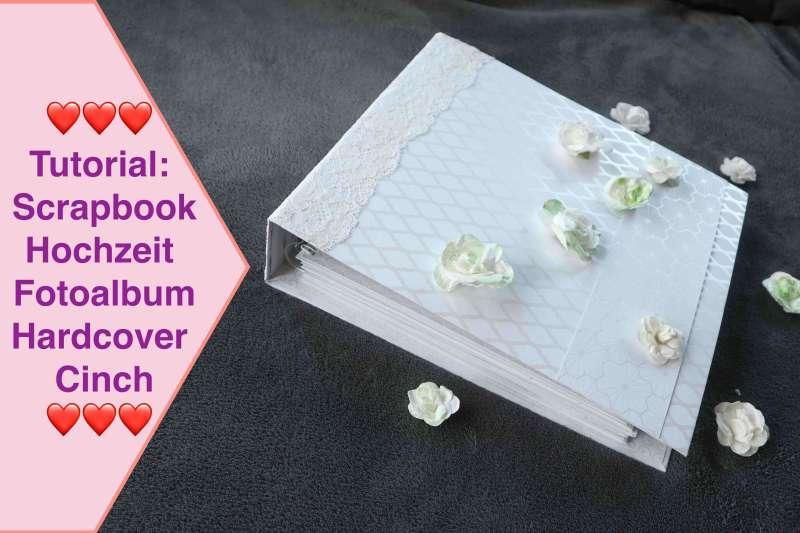 Tutorial Scrapbook, Hochzeit Fotoalbum Album groß, Hardcover Cinch Bindung NEUE Action Stanzen