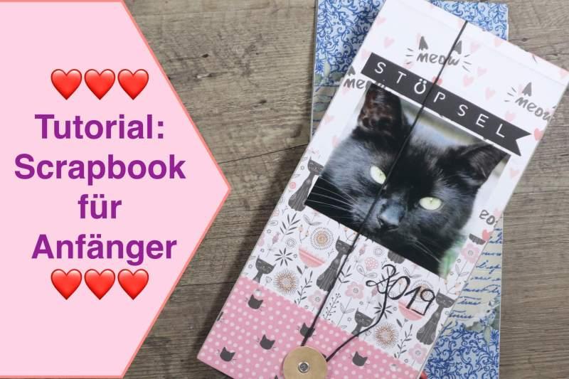 Tutorial Scrapbook Album für Anfänger, Katze Scrapbook leicht