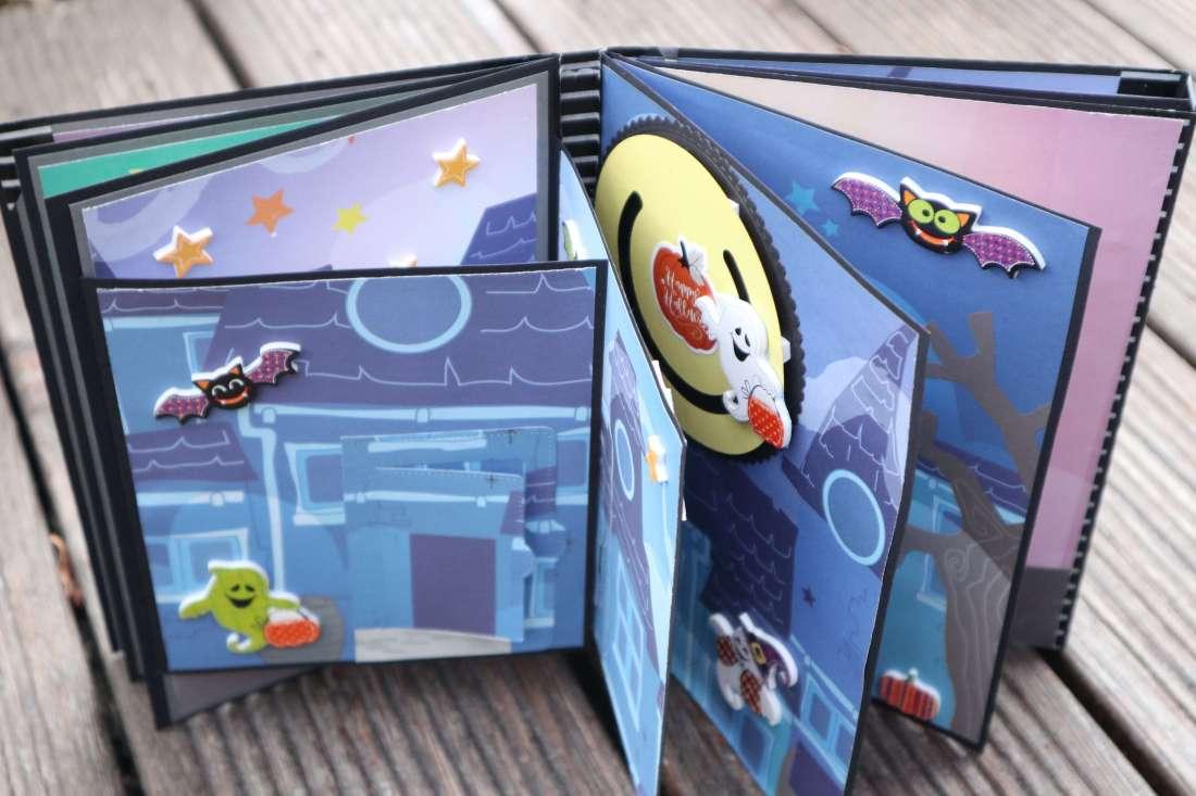 Craft Update Trifolder Interaktives Mini Album Action Stickerbook Tri fold Card Folio Scrapbook
