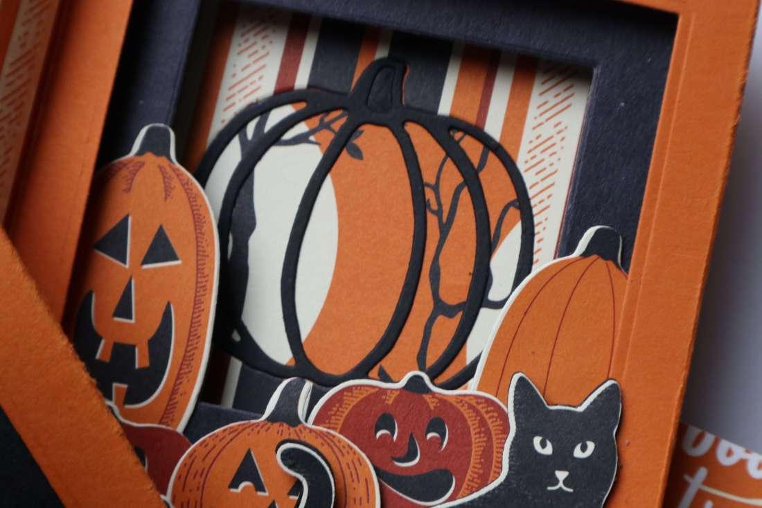 Tutorial: Shadow Box Card (deutsch) Halloween Inside Tunnel Karte mit Piff