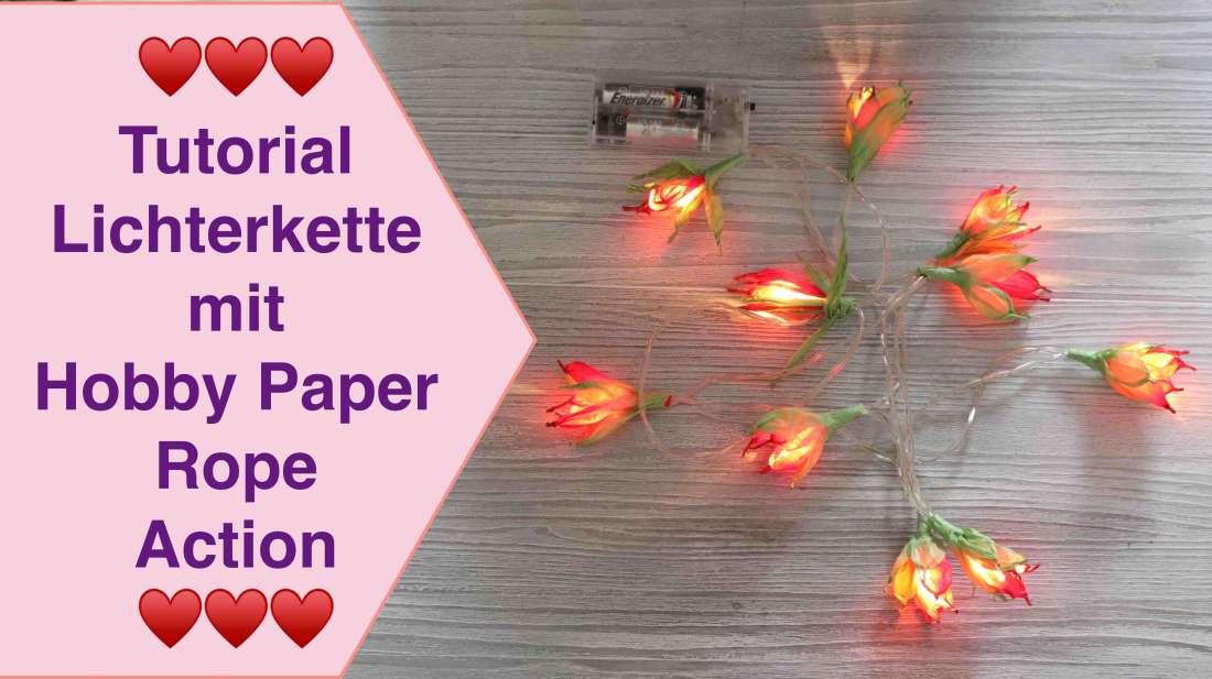 Lichterkette Weihnachtsstern aus Hobby Paper Rope Papier