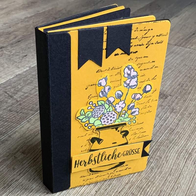 Tutorial Scrapbook Mini Album, Scrapbooking, Sizzix 663629, Stampin Up Landleben
