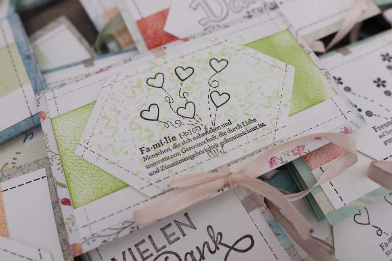 Tutorial: 48 Karten aus 30x30 Action Block, Simple Card Design, Bastelsachen Aktion Haul Stampin up