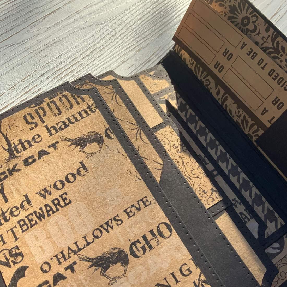 Tutorial: Grundlagen Seitenaufbau, Tonic Studios Keepsake Book Maker Die, Mini-Album Scrapbook