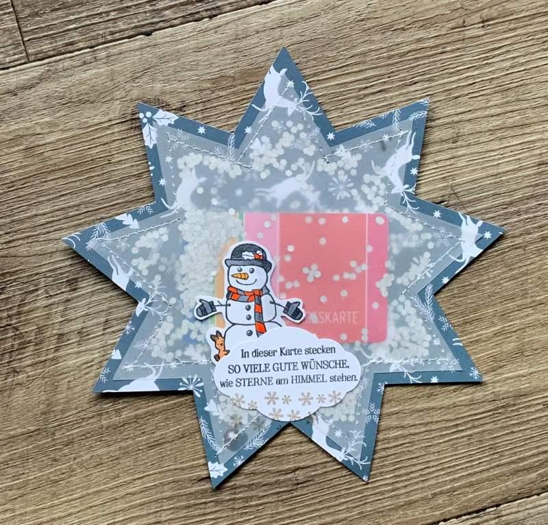 Tutorial: Shaker Geschenkverpackung GutscheinKarten, Scrapbooking , Schablone FREE, DIY Geschenkidee