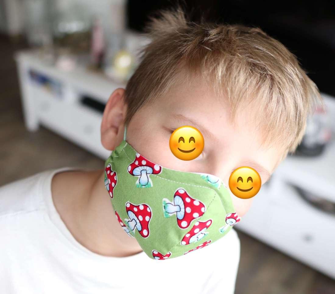 Tutorial: Kinder Mundschutz /Atemschutzmaske selber nähen/einfache Anleitung/Schablone #MaskeZeigen