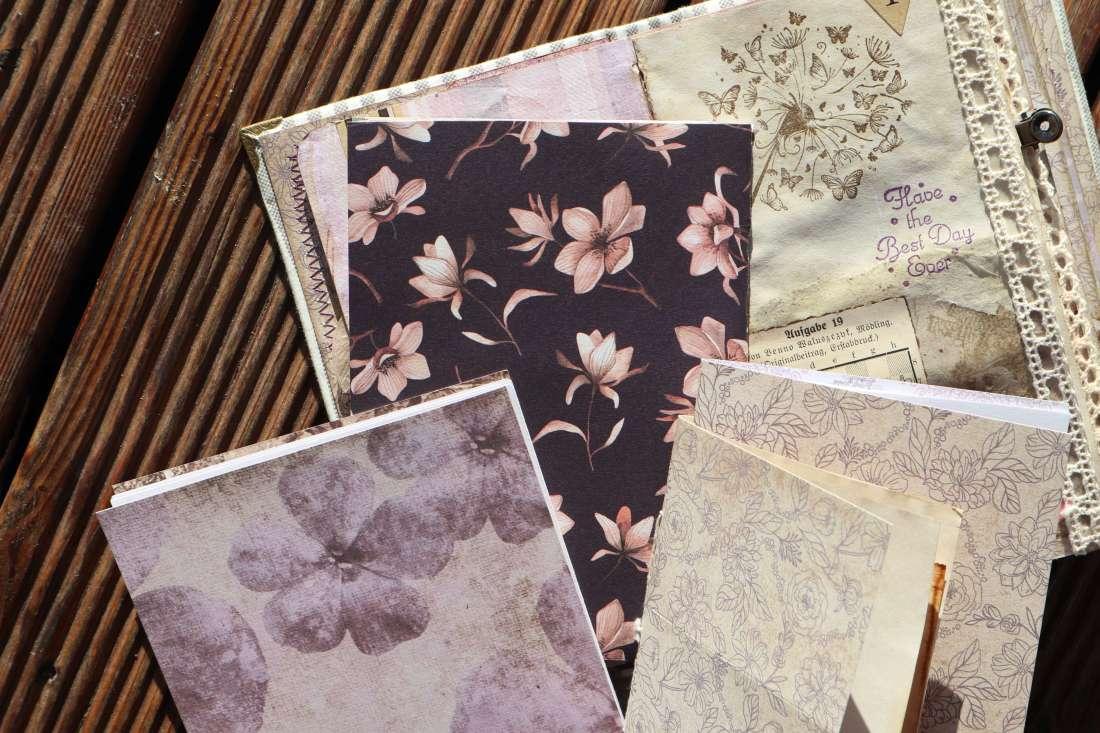 Junk Journal Grundlagen / Vorbereitung meine Papiersammlung Scrapbook gestalten