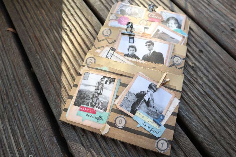 Craft-Update Envelope Loaded Pocket Mini Album Action 3D Block Erinnerungsalbum Scrapbooking