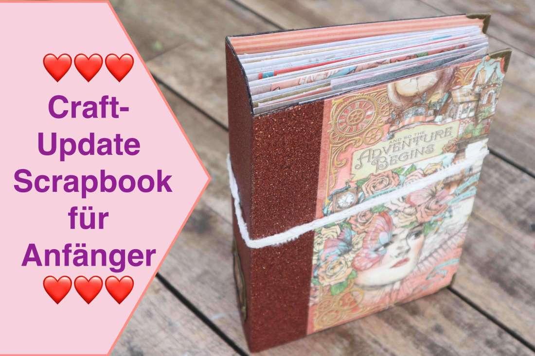 Scrapbook für Anfänger, Craft Update Scrapbook Album für Beginner, Kunstleder Scrapbook leicht